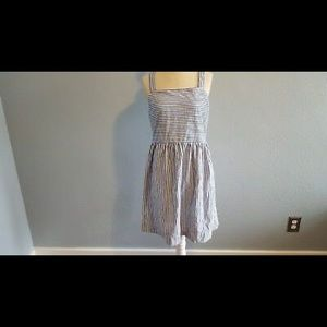 Loft striped fit and flare summer dress